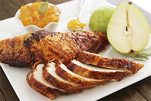 Bay Leaf and Honey Glazed Turkey with Pear Chutney.jpg