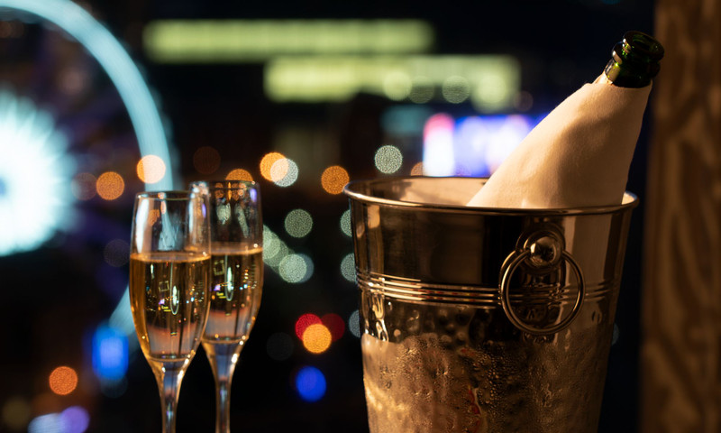 Sip your bubbly at the Ritz-Carlton.