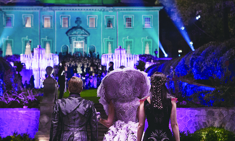 "The Swan House illuminates multiple ""Hunger Games"" films. (© Lionsgate)"