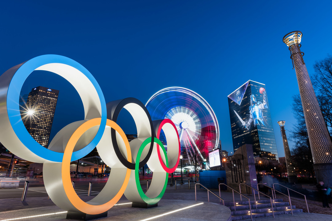 Atlanta Centennial Olympic Park Rings Super Bowl