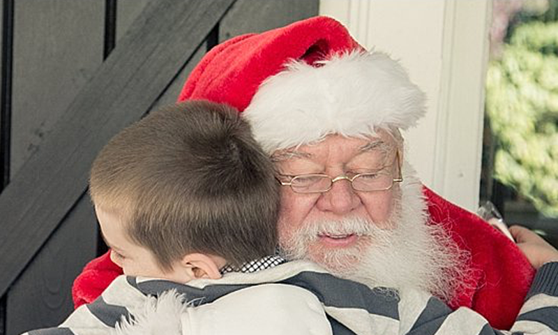 Who doesn't want a hug from Santa? They are available at the Inn at Serenbe -- along with an incredible holiday feast.