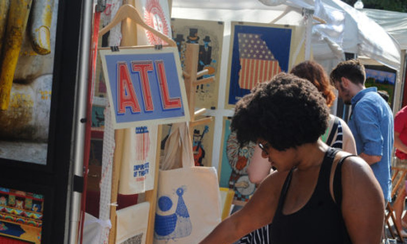 The Decatur Arts Festivals features works by a curated selection of artists.