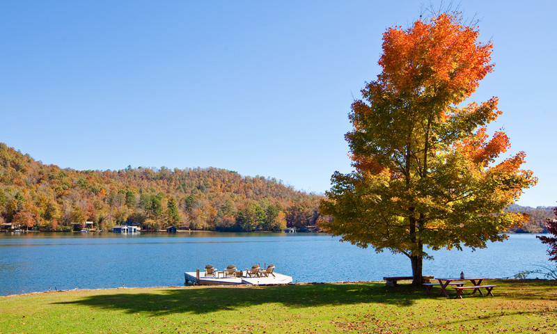 Immerse yourself in North Georgia's fall beauty. (Lake Chatuge)