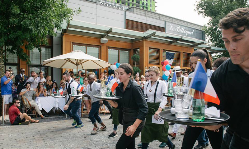 Cheer on some of the city's best waiters as they compete for honors and a trip to Paris in the Waiters' Race...then party in Buckhead.