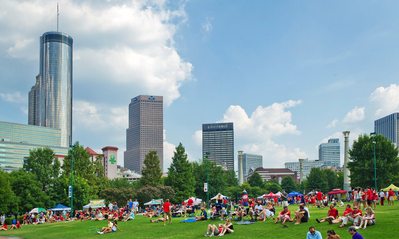 Centennial Olympic Park is a hub of music all year long. (2011, James Duckworth, AtlantaPhotos.com)
