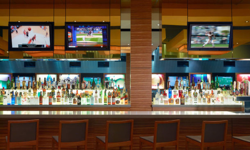 The Marriott Marquis's High Velocity is one of the largest sports bars in downtown Atlanta with 29 HD TVs.
