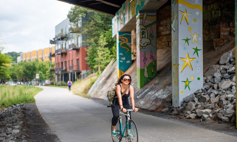 Start with a bicycle tour and see greenery galore. (James Duckworth, AtlantaPhotos.com)