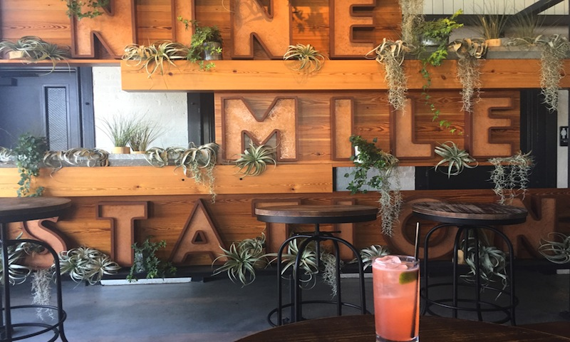 Compliment the gorgeous skyline view with incredible cocktails at Nine Mile Station.