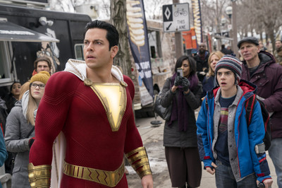 'Shazam!' Trailer: Zachary Levi Leaps Tall Buildings in a Single Bound – Almost (Video)