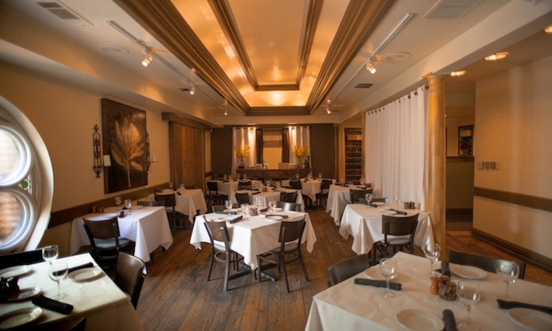 Portofino's dining room is perfect for an intimate dinner.