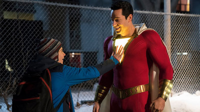 The New Shazam Trailer Teases Bad Guys, the Shazam Family, and More Laughs
