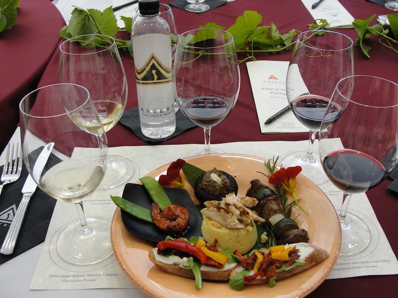 Napa-Artesa Winery-tasting pairing-c2011 Carole Terwilliger Meyers.JPG