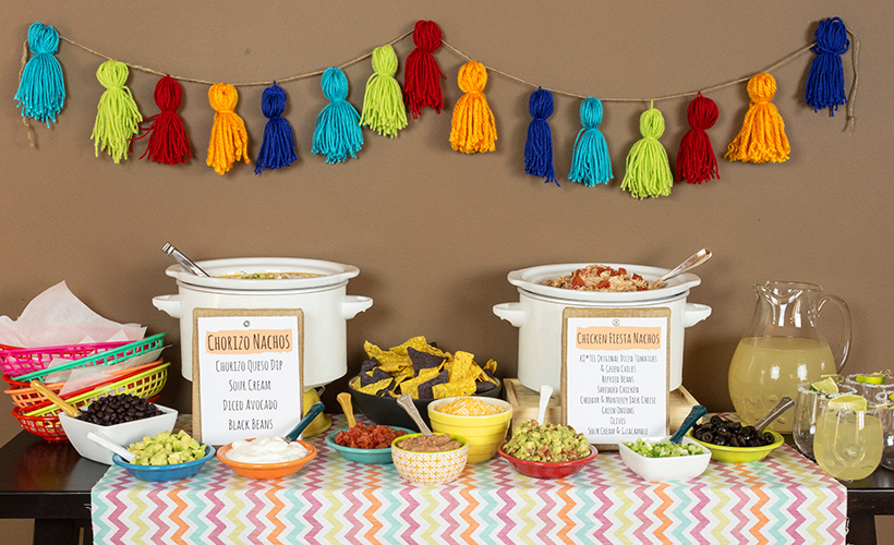 Build Your Own Nacho Bar Table