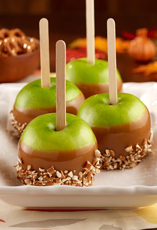 Peanut Butter Caramel Apples Halloween Recipe