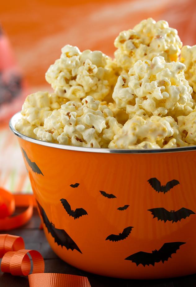 Ooey-gooey Popcorn Balls Halloween Recipe