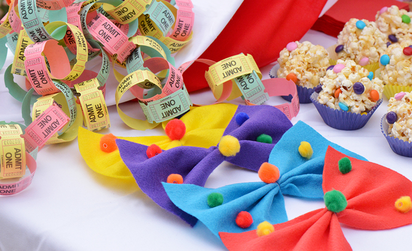 Easy Clown Bow Ties for a Kids' Birthday