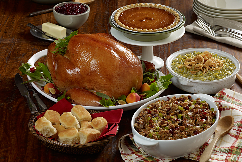 Thanksgiving Dinner Meal Spread